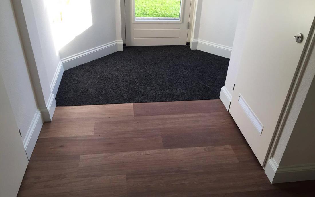 Inloopmat, PVC vloer, Sierplinten