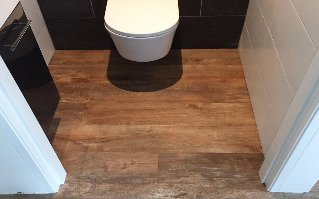 PVC vloer in WC / toilet