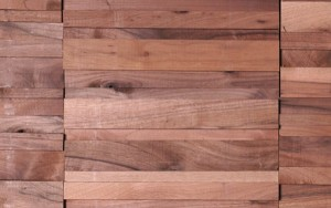 Houten wandpanelen 3D. Natural Wood Modular Walnut Linear