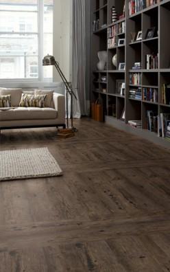 PVC vloer Karndean Lightline LL4480 Grey-Brown Rustic Wood