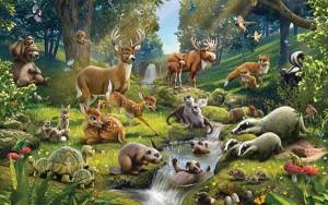 Fotobehang Walltastic Animals of the Forest
