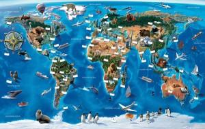 Fotobehang Walltastic Map of the World